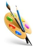12100993-palette-de-l-39-art-avec-un-pinceau-et-des-outils-pour-le-dessin-au-crayon15